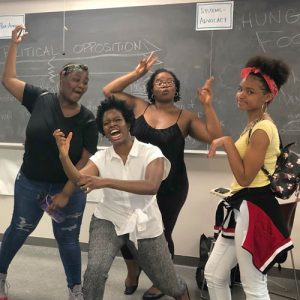 Scholarship recipients share improv with teens in Summer Youth Employment Program