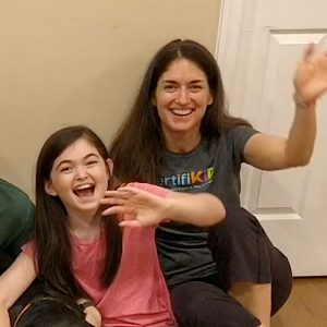 """Truly hilariously enjoyable"": Family of four attends online Improv for All workshop"